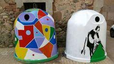 contenedores de basura hechos arte badarán 2