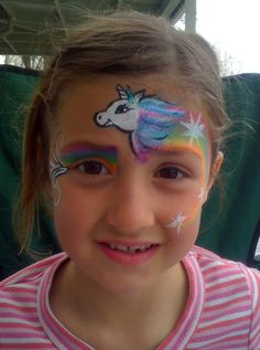 My version 29 - Unicorn face paint I did for the daughter of a friend. Inspired by snazaroo.com