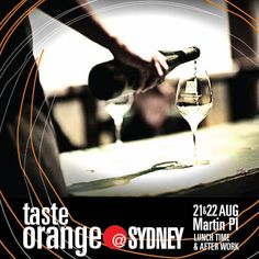 Orange by night is the new black. The nightly pop-up bar afterwork at Taste Orange in Sydney is not to be missed!  Martin Place l next Wed/Thur 21/22 August l Lunchtime l Afterwork #fashion #Sydney #WineNSW #Orange@Syd #MBFFSydney