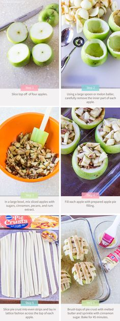 6 Granny Smith Apples 1/2 Teaspoons ground cinnamon 1/4 Teaspoon rum extract 1/4 cup granulated sugar 1 Tablespoon light brown sugar, packed 1 package refrigerated pie crust 1/4 cup pecans, chopped 2 Tablespoons unsalted butter, melted cinnamon-sugar, sprinkled on top of pie crust