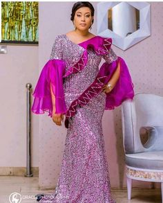 Fabulous Asoebi Styles for Ember Month Ankara Long Gown Styles, Ankara Styles For Women, African Tops, African Wear, African Dress, Latest Aso Ebi Styles, African Fashion Dresses, African Outfits, Africa Fashion