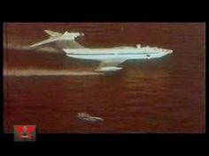 Ekranoplan KM 'Caspian Sea Monster' seaplane (Russian) Helicopter Plane, Flying Boat, Sea Monsters, Aeroplanes, Cheaters, Helicopters, Air Force, Boats, Aviation
