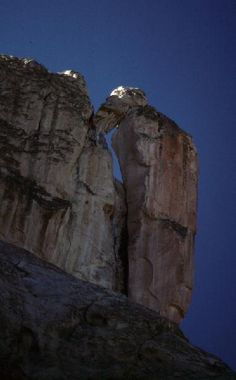 Woodpecker Rock in El Morro National Monument, New Mexico