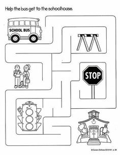 Transportation Worksheets For Preschool Preschool Worksheets, Kindergarten Activities, Educational Activities, Activities For Kids, Transportation Worksheet, Transportation Theme Preschool, Atelier Theme, School Bus Safety, Maze Worksheet