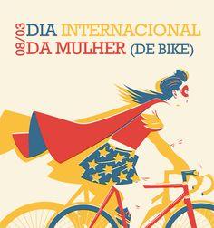 Mulher Maravilha na Bike