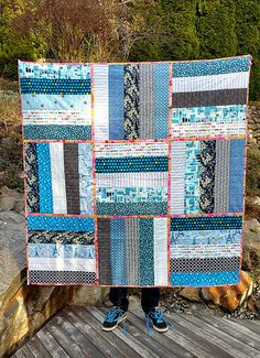 Blue Hugs for Cassidy - Felicity Quilts
