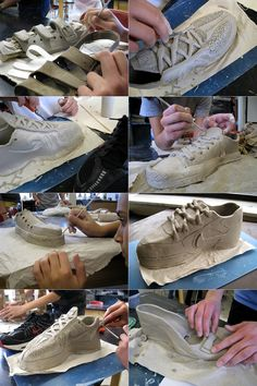 This is one of my *favorite* ceramic projects . . . SHOES! I ask each of my 8th graders to bring in a shoe or boot to use as inspiration for their clay project.