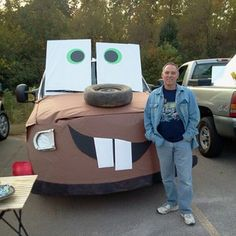 Mater from Disney Cars. 36 Trunk-Or-Treat Themes That Really Nailed Soirée Halloween, Holidays Halloween, Halloween Treats, Halloween Decorations, Truck Or Treat, Teal Pumpkin, Fall Carnival, Harvest Party, Holiday Fun