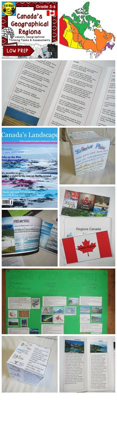 These seven projects are to develop skills on Canada's Geographical Regions. Comes with a complete lesson plan and assessment tools. Geography Of Canada, World Geography, Critical Thinking Activities, Critical Thinking Skills, All About Canada, Canada Landscape, Teaching Reading, Teaching Ideas, Project Based Learning
