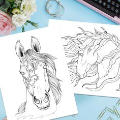 Free PDF Bonus Adult Coloring Pages Of Beautiful Horses For You To Download With This Best