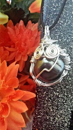 Hematite Wire wrapped Necklace by PranicTreasure on Etsy