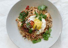 Stir-Fried Grains with Shrimp and Eggs Recipe - Bon Appétit