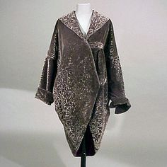 Patterned Velvet Cocoon Evening Coat  French, circa 1920