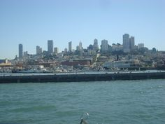 View of San Francisco.from a boat San Francisco Skyline, New York Skyline, Boat, Travel, Dinghy, Viajes, Boats, Destinations, Traveling