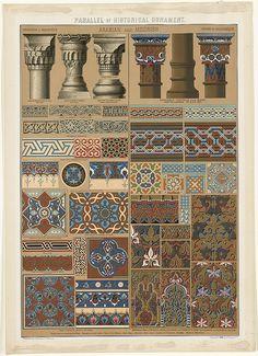 Parallel of Historical Ornament, Arabian and Moorish by Boston Public Library, via Flickr