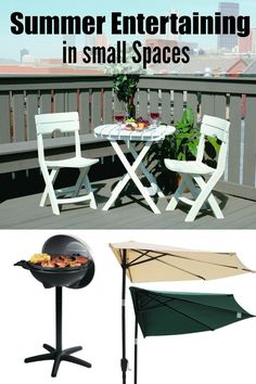 Are you living in a small space? Don't fret! With these tips you can hold a perfect Summer BBQ even on your apartment balcony
