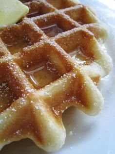 Classic Belgian Waffles. so excited to find this. it will be the perfect thing to satisfy my waffle bar craving. strawberries, bananas, chocolate....whip cream! yum!