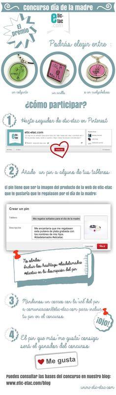 Concurso día de la madre en Pinterest ¡No te quedes sin participar!  http://www.etic-etac.com/blog/concurso-del-dia-de-la-madre-en-pinterest/