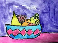 Elements of the Art Room: 2nd grade Paul Cezanne inspired Fruit bowls Fruit Art Kids, Fruit Bowls, Paul Cezanne, French Artists, Inspired, Artwork, Projects, Room, Inspiration