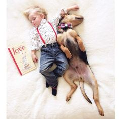 Months Later This Toddler Is Still Napping With His Puppy - Theo beau cutest animal human pairing ever