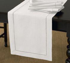 """Handmade Hemstitch Design Table Runner 16""""x72"""" Oblong- 26 Colors New #Handmade"""
