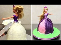 How to make a Rapunzel Doll Cake by CakesStepbyStep - YouTube
