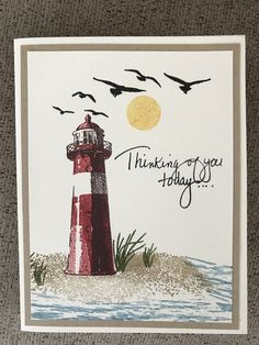 High Tide—Stampin' Up Card by Helen Werntz High Tide Stampin Up, Stampin Up Karten, Nautical Cards, Beach Cards, Your Cards, Men's Cards, Stamping Up Cards, Birthday Cards For Men, Card Maker