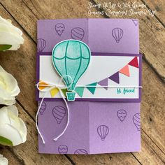 Stamp It Up with Jaimie Fun Fold Cards, Above The Clouds, Craft Show Ideas, Stamping Up, Stampin Up Cards, Paper Crafting, Handmade Cards, Planes, Cardmaking