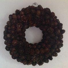 Larch cones wreath