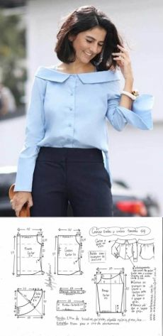 Designer Blouse Patterns, Dress Sewing Patterns, Clothing Patterns, Skirt Patterns, Coat Patterns, Make Your Own Clothes, Diy Clothes, Clothes For Women, Barbie Clothes