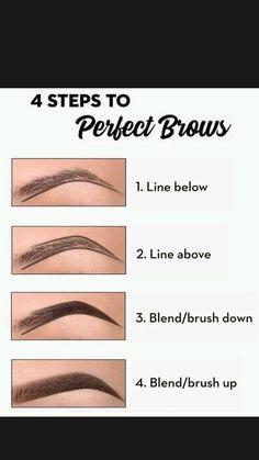 Eyebrow Makeup Tips, Eye Makeup Steps, Contour Makeup, Skin Makeup, Makeup Brushes, Makeup Eyebrows, Beauty Makeup Tips, How To Makeup, Eyeshadow Makeup Tutorial