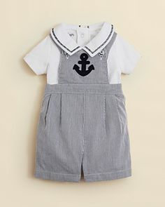 PURCHASED. Kitestrings by Hartstrings Infant Boys' Woven Overalls & Onesie Set - Sizes 0-12 Months | Bloomingdale's