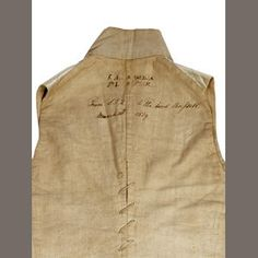 Bonhams 1793 : An early 19th century embroidered gentleman's waistcoat, dated 1819