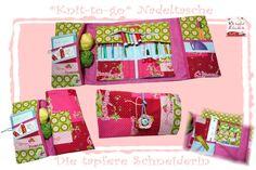 Nadeltasche *Knit-to-go* Stricken&Häkeln unterwegs von Die tapfere Schneiderin, handmade with love ... by Viola auf DaWanda.com