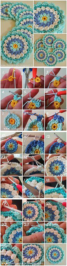 Цветок подставка)Урок вязания крючком