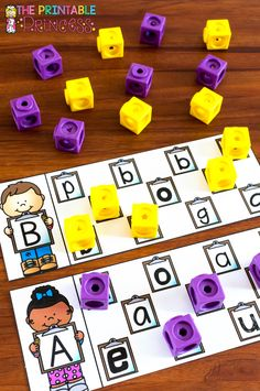Uppercase and lowercase letter matching practice.