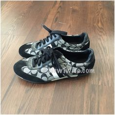 Coach black Joss sneaker 11 Good condition. Lace up sneakers Coach Shoes Sneakers