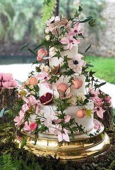 45 Beautiful Wedding Cakes The Best From Pinterest ❤ beautiful wedding cakes flower cake thekingcake #weddingforward #wedding #bride
