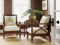 Tropical Accent Chairs from Tommy Bahama Home #PalmPrint