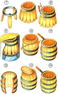 Бондарное ремесло. Изготовление посуды с параболическим остовом