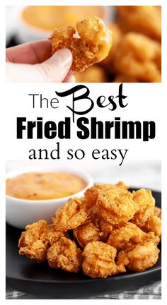 The BEST Fried Shrimp Recipe - So Easy! - This shrimp batter is so easy and is SO good! You are in the right place about stir fry recipes Her - Fried Shrimp Recipes, Shrimp Recipes For Dinner, Shrimp Dishes, Seafood Dinner, Fish Dishes, Shrimp Pasta, Seafood Pasta, Fried Shrimp Batter, Deep Fried Shrimp