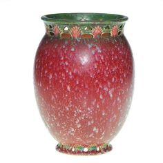"""Roseville Ferella 8"""" vase, rose, shape 508-8"""""""
