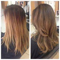 Before and after, grown out faded ombré to tonal blended balayage.