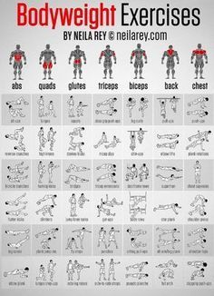 Sorry if the writing is blurry! Exercise for different muscles of the body.