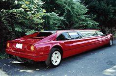 フェラーリ、ランボルギーニの高級スーパーカーやレンジローバー、ポルシェ・カイエンなどの高級SUVのちょっとありえないリムジン仕様の写真です。CG画像ぽっいものもありますが、これらの車をリムジンに改