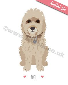 For a unique bespoke gift, why not order a custom pet portrait? My fun, personalised illustrations are based on your photos and capture all your dogs quirky details to make a truly original gift for a birthday, anniversary or just to treat yourself to something special!  **This listing is for a DIGITAL FILE ONLY** You will receive a print ready file in PDF and JPEG formats, to fit an 8x10 frame.  Please see separate listing for printed, mounted and framed options. https://www.etsy.c...