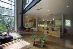 Mount Bonnell Modern - industrial - living room - austin - Dick Clark + Associates