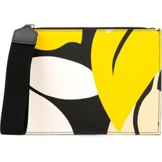Marni floral print clutch (860 BAM) ❤ liked on Polyvore featuring bags, handbags, clutches, multicolour, floral leather purse, leather handbag purse, leather clutches, leather man bags and genuine leather purse
