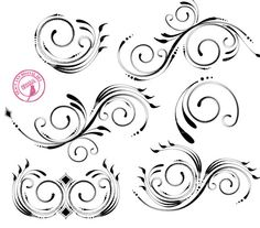 Beautiful digital flourishes Digital Swirls by TracyAnnDigitalArt, $5.95