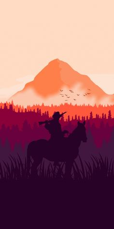 You do things… Wallpaper Animes, Red Wallpaper, Red Dead Redemption 1, Read Dead, Gaming Wallpapers, Iphone Wallpapers, Silhouette Art, Le Far West, Horse Riding